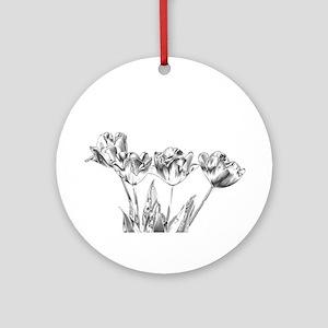 Chrome Tulip Ornament (Round)