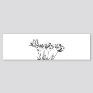 Chrome Tulip Sticker (Bumper)