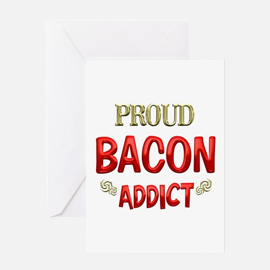 Bacon Addict Greeting Card