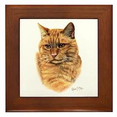 Red Tabby Cat Framed Tile