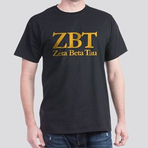 Zeta Beta Tau Fraternity Letters and Dark T-Shirt