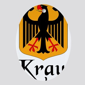 Kraut with Crest Ornament (Oval)