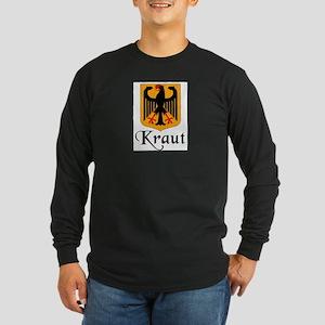Kraut with Crest Long Sleeve Dark T-Shirt
