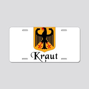 Kraut with Crest Aluminum License Plate