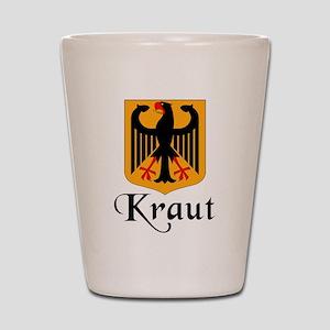 Kraut with Crest Shot Glass