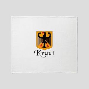 Kraut with Crest Throw Blanket