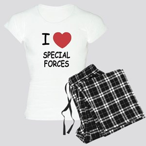 I heart special forces Women's Light Pajamas