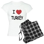 I heart turkey Women's Light Pajamas