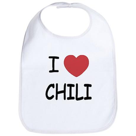 I heart chili Bib