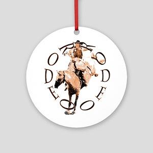 RODEO BRONC Ornament (Round)