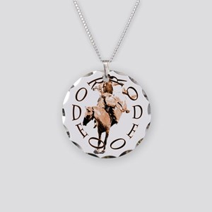RODEO BRONC Necklace Circle Charm