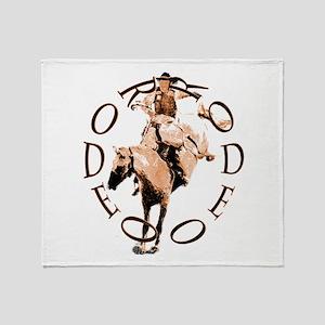 RODEO BRONC Throw Blanket