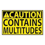 Caution: Contains Multitudes Sticker