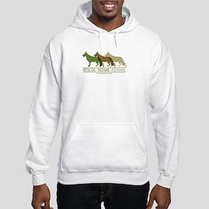 3 German Shepherds Hooded Sweatshirt