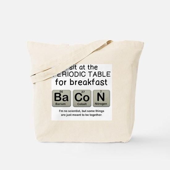 Cute Bacon periodic table Tote Bag
