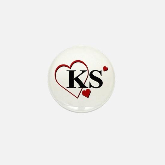 Love KS Kansas Heart Mini Button