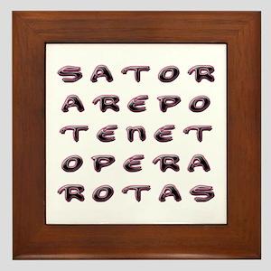 SATOR Square Framed Tile