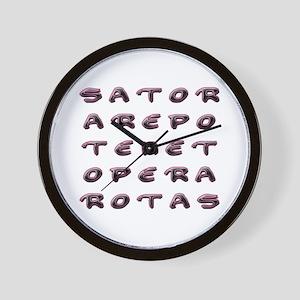 SATOR Square Wall Clock