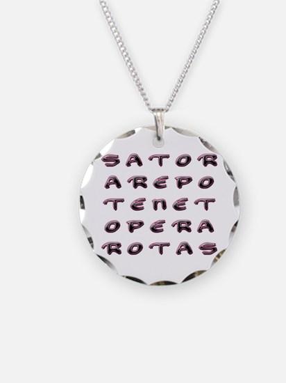SATOR Square Necklace Circle Charm