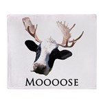Moooose Throw Blanket
