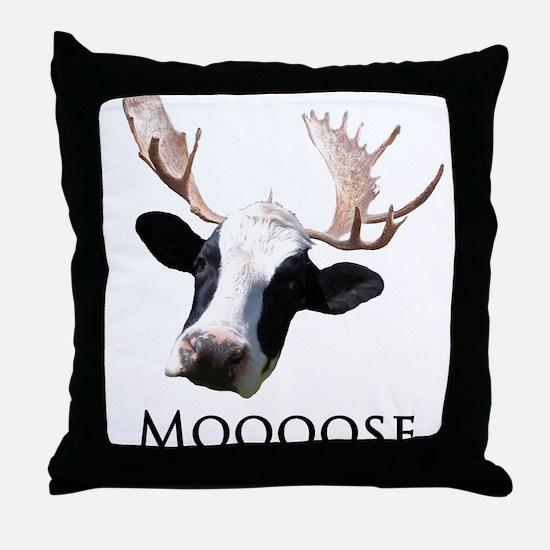 Moooose Throw Pillow