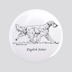 "English Setter 3.5"" Button"