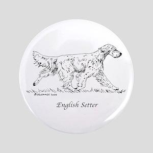 "English Setter 3.5"" Button"