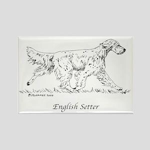 English Setter Rectangle Magnet