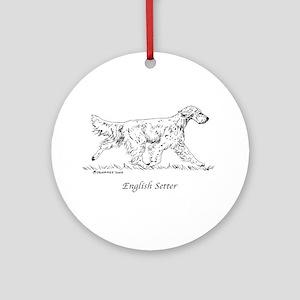 English Setter Ornament (Round)