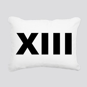 Xiii (number 13) Rectangular Canvas Pillow