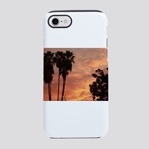 silhouette palm and cypress at iPhone 7 Tough Case