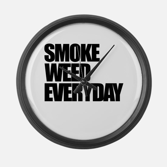 Smoke Weed Everyday Large Wall Clock
