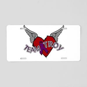 TEAM TROY : 8 Aluminum License Plate