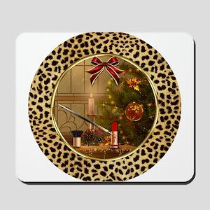 Makeup Christmas Tree Cheetah Mousepad