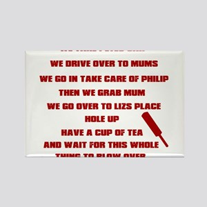 Shaun of the Dead Rectangle Magnet