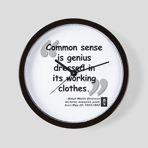 Emerson Genius Quote Wall Clock