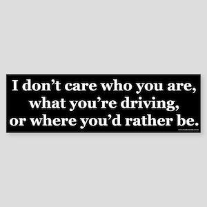 Don't Care Sticker (Bumper)