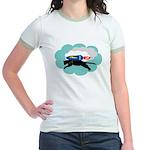 Catphi Jetpack Cat Jr. Ringer T-Shirt