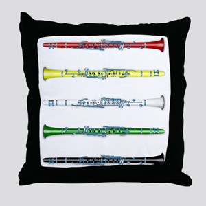 Clarinet Colors Throw Pillow