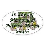 PatrickSmith Sticker (Oval 50 pk)