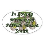PatrickSmith Sticker (Oval)