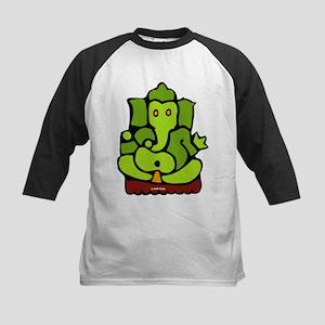 Green Ganesha Kids Baseball Jersey