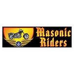 Masonic Riders Sticker (Bumper)