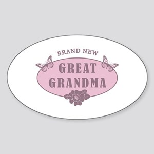 Brand New Great Grandma Sticker (Oval)