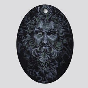 Green Man Ornament (Oval)