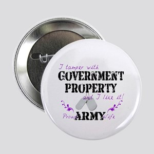 "Tamper w Government Property A Wife 2.25"" Button"