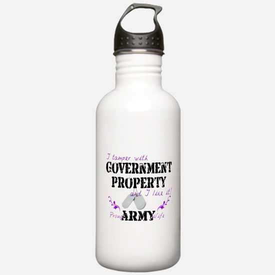 Tamper w Government Property A Wife Water Bottle