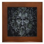 Green Man Framed Tile