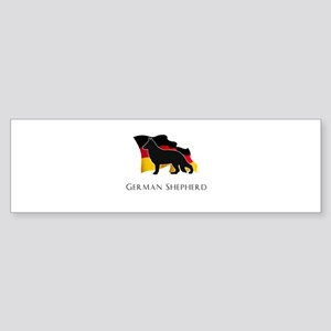 """German"" Shepherd Sticker (Bumper)"