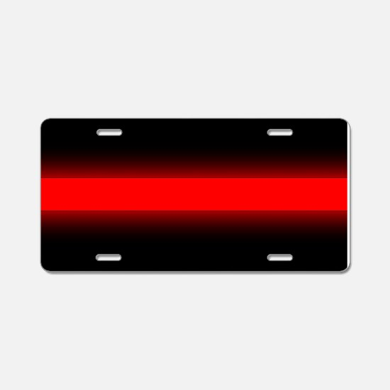 Glowing Thin Red Line Aluminum License Plate